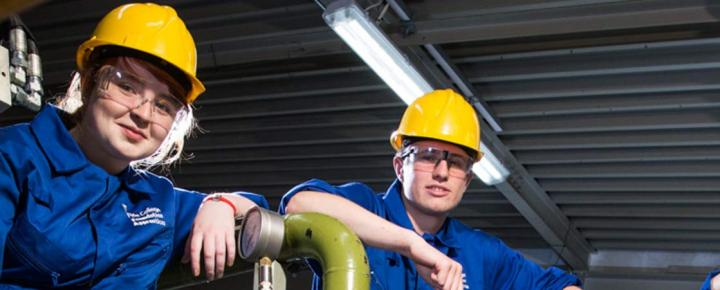 Foundation apprentices studying Engineering