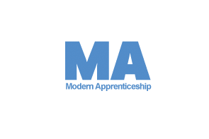 Modern Apprenticeships icon - graphic text reads M A, Modern Apprenticeships