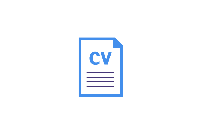 Icon showing CV