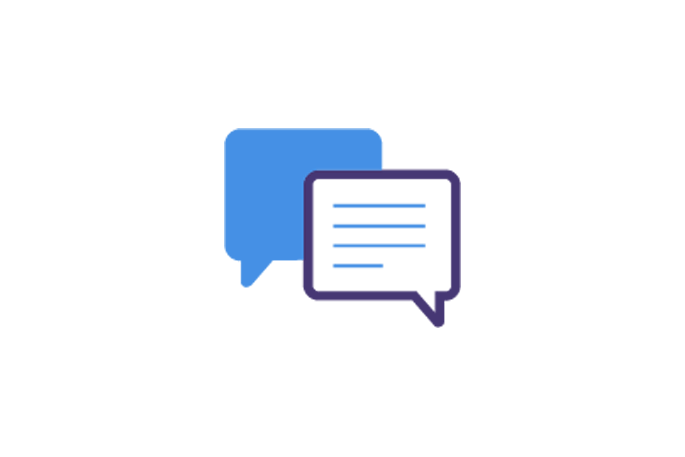 Two speech bubbles icon